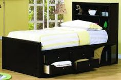 Coaster Phoenix Twin Bookcase Bed with Underbed Storage - Coaster Fine Furniture Full Bed With Storage, Twin Storage Bed, Under Bed Storage, Bookcase Headboard, Bookcase Storage, Storage Drawers, Storage Spaces, Bedroom Furniture Sets, Bedroom Sets