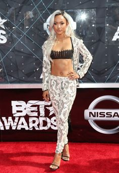 Karrueche Tran at the 2015 BET Awards. See all the best looks from the red carpet.