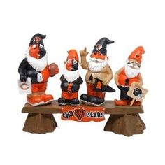 Chicago Bears Gnome Fan Bench