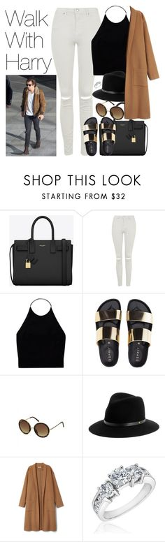 """""""Walk with Harry"""" by onedirectionimagineoutfits99 ❤ liked on Polyvore featuring Yves Saint Laurent, Topshop, Wilfred, rag & bone and Reeds Jewelers"""