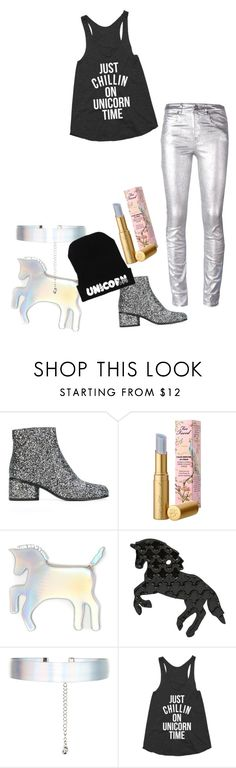 """""""Untitled #108"""" by dancekaty ❤ liked on Polyvore featuring Marc Jacobs, Too Faced Cosmetics, WithChic, Accessorize, Étoile Isabel Marant and unicorns"""