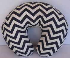 Boppy Cover Nursing Pillow Navy And White By MyRaggyObsession, $25.00