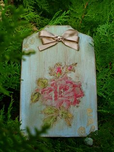 Handmade rose wall decoration
