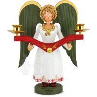 Angel medium size with brass candlesticks