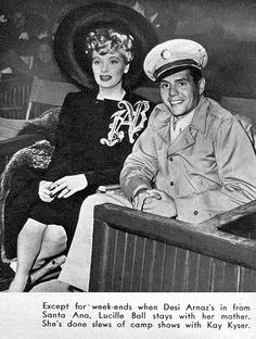 Lucille Ball and Desi Arnaz October 1943 Modern Screen magazine Hollywood Couples, Hollywood Fashion, I Love Lucy, My Love, Vivian Vance, Lucille Ball Desi Arnaz, Lucy And Ricky, Childhood Tv Shows, Myrna Loy