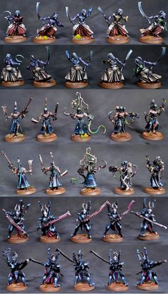 Dark Eldar Elites - Mandrakes, Wracks, Incubi... I especially love the Mandrakes & Incubi