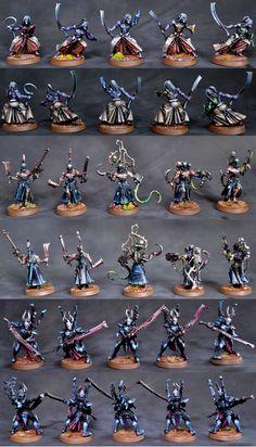 Dark Eldar Elites - Mandrakes, Wracks, Incubi... I especially love the Mandrakes & Incubi