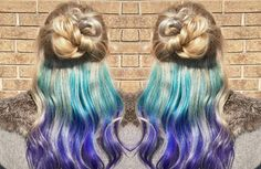 Get rainbow hair color and still be work appropriate with these hidden hair color styles! Under Hair Color, Hidden Hair Color, Hair Color Underneath, Cool Hair Color, Hair Lights, Light Hair, Cabello Underlights, Underlights Hair, Cabello Peekaboo