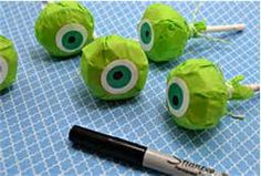 Monster University pops perfect for favors, or even decorations!/ paletas de monster university perfectas para regalar, o usar para arreglos #fngnovelties