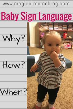 Find out why you should implement baby sign language into your family, when to start introducing sign to baby, how to teach them, and your first few basic signs to make the temper tantrums disappear! Sign Language Basics, Sign Language Phrases, Learn Sign Language, Baby Sign Language, Language Lessons, British Sign Language, Thing 1, Childcare, Parenting Hacks
