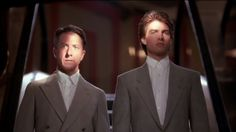 """Review: 'Rain Man'  -  Deember 13, 1988:   One of the year's most intriguing film premises – a callow young hustler (Tom Cruise) must gain the confidence of his autistic brother (Dustin Hoffman) in order to pry away from him an enormous inheritance – is given uneven, slightly off-target treatment in UA's """"Rain Man."""""""