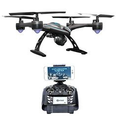Contixo WiFi FPV Quadcopter Drone w HD Camera Live Video For Aerial Photography Altitude Hold Auto Return Easy to Fly for Expert Pilots Beginners Great Gift Idea *** Find out more about the great product at the image link-affiliate link. Buy Drone, Drone For Sale, Drone Diy, Selfies, Wifi, Drone With Hd Camera, Video Camera, Photography For Beginners, Drone Quadcopter