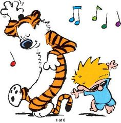 Happy dance - Calvin and Hobbes Calvin Und Hobbes, Calvin And Hobbes Comics, Create A Comic, Happy Dance, Fun Comics, Super Quotes, Hobbs, Happy Weekend, Humor