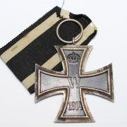 Medalla Cruz de Hierro 2ª clase EK2 1914  Marcaje: KO  Fabricante: Königliches Münzamt Abteilung Order, Berlin  Modelo 1914  Núcleo magnético, fabricación en tres piezas