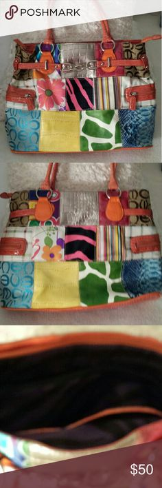 Pretty/Fun Multicolored  Tote Handbag New without tags - Multicolored patterned handbag   Super fun!!! Bags Totes