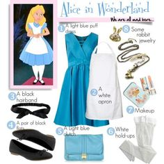 Alice In Wonderland Outfit Ideas Picture diy halloween costume alice in wonderland halloween Alice In Wonderland Outfit Ideas. Here is Alice In Wonderland Outfit Ideas Picture for you. Alice In Wonderland Outfit Ideas diy halloween costume ali. Robes Disney, Disney Costumes, Diy Halloween Costumes, Disney Outfits, Alice Costume Ideas, Scary Costumes, Creative Costumes, Halloween Night, Halloween Ideas