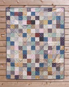 Vintage patchwork baby quilt