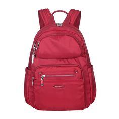 Arroyo Leather Trimmed City Backpack in Jester Red | Beside-U #backpack #BesideU