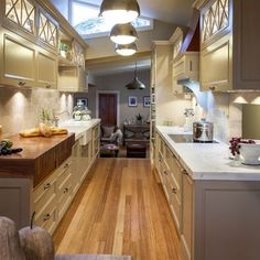 1000 images about small kitchen ideas on pinterest for Two way galley kitchen designs