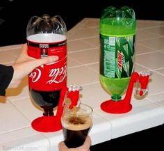 Um bebedouro de refrigerante. Genial!