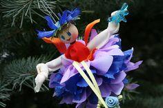 Flower Fairy Doll Ornament Fairy Gift Pixie Fairy Doll