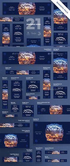 Christmas Fair Banner Pack - Template PSD, Vector EPS #xmas #design