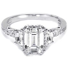Tacori Engagement Ring w/ Shield-Cut and Pave Diamonds | 2628ECP