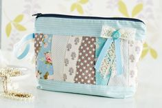 Learn to make Debbie Shore's beautiful patchwork make-up bag with our latest! (Sew magazine, June, issue 60)