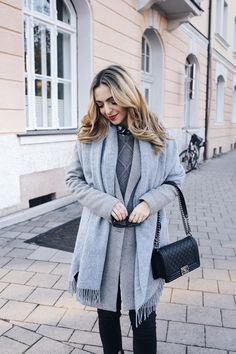 Sometimes all you need is a classy grey and black combination - worn by Jecky from Want Get Repeat