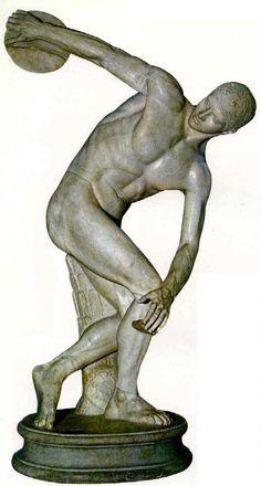 Discóbolo (h. 460-450 a. C). Museo de las Termas, Roma. Arte griego.
