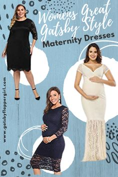 Womens Great Gatsby Style & Roaring 20s Maternity Dresses! Stunning styles and designs - click here to see them all!