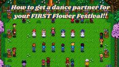 How to Dance with ANY OF THE BACHELORS/BACHELORETTES at your FIRST Flowe... Stardew Valley Tips, Flower Dance, Valley Flowers, Sims Games, Video Game Memes, Simulation Games, Clash Of Clans, Bullet, Gaming