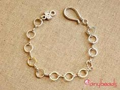 Silver Color Round Dash Link Finished Bracelet 7 inch  #bracelet #jewelrysupplies #anybeads
