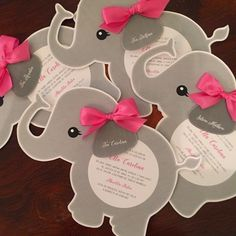 Elephant Baby Shower Invitations! #babyshower #babygirl #invitations #papergoods #papergarden