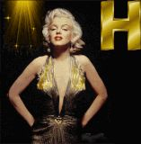 Marilyn Monroe letter H alphabet gif animated