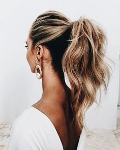 2018 Wedding Hair Trends 2018 wedding hairstyles_ponytail The post 2018 Wedding Hair Trends appeared first on Frisuren Blond. Hair Trends 2018, Latest Hair Trends, Hair Day, Gorgeous Hair, Gorgeous Blonde, Hair Looks, Hair Inspiration, Hair Inspo, Spiritual Inspiration