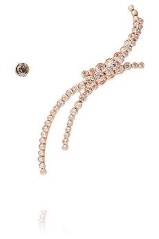 02e109e07 Ryan Storer - Triple Line rose gold-plated Swarovski crystal cuff and stud  earring