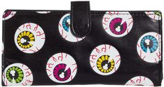 WANDERING EYEBALL WALLET Keep all eyes on your cash with this wandering eyeball wallet! Featuring multiple pockets, this wallet is sure to be money friendly and is animal friendly as well! $18.00 #wallet #eyeballs #accessories