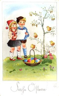 Old Easter Post Card —  (525x850)