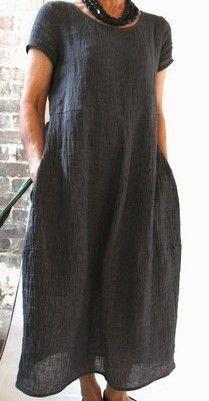 Linen comfort – Linen Dresses For Women Linen Dress Pattern, Tunic Pattern, Dress Patterns, Sewing Patterns, Clothes Patterns, Linen Tunic, Coat Patterns, Crochet Pattern, Trendy Dresses