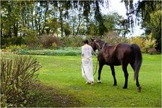 Autumn Wedding Inspiration from Le prieuré Saint-Michel in Normandy France, complete with a beautiful wedding horse and couple in love Transport Images, Wedding Transportation, Horse Wedding, Couples In Love, Autumn Wedding, Engagement Couple, Wedding Jewelry, Swarovski, Wedding Inspiration