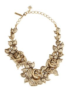 Love this: Gold Rose Necklace @Lyst