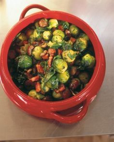 BRUSSELS SPROUTS WITH CHESTNUTS, PANCETTA AND PARSLEY The sprout recipe below is really only a slight detour from the traditional route. By all means, stick to the orthodox if you prefer by adding only buttery chestnuts to the Brussels sprouts, but what follows is now my own traditional way of cooking them. There is a lot of parsley, I know, but think of it as another vegetable ingredient rather than a garnish.