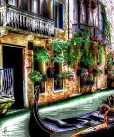 "Life in Venice (24"" x 20"") - Original Artwork"