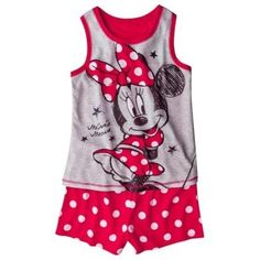 Disney Girls Minnie Mouse Tank Top Pajama Set (For Sophia) Disney Outfits, Girl Outfits, Disney Clothes, Disney Surprise, Disney Girls, Pajama Set, Minnie Mouse, Tank Tops, Cloths