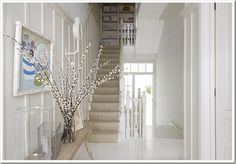love the walls and the top of the stairs - storage