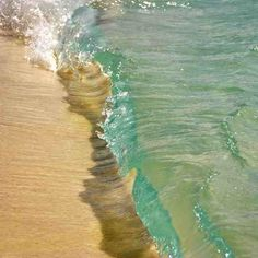 clear water...