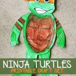 Ninja Turtle craft set - free printable #boycraft #boyfun #ninjaturtle #TMNT #freebie #freeprintable