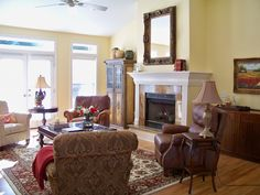 Olympic Paint: Belgian Waffle. The Comforts of Home: French Country Living Room Before and After