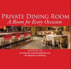 Private Dining at Ribby Hall Village is perfect for special occasions! Private Dining Room, Places To Eat, Fine Dining, Special Occasion, Food And Drink, Restaurant, Homemade, Home Made, Diner Restaurant